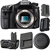 Sony Alpha a77 II DSLR Camera (Body Only) ILCA77M2 + VG-C77AM Vertical Battery Grip + NP-FM500H Lithium Ion Battery Bundle