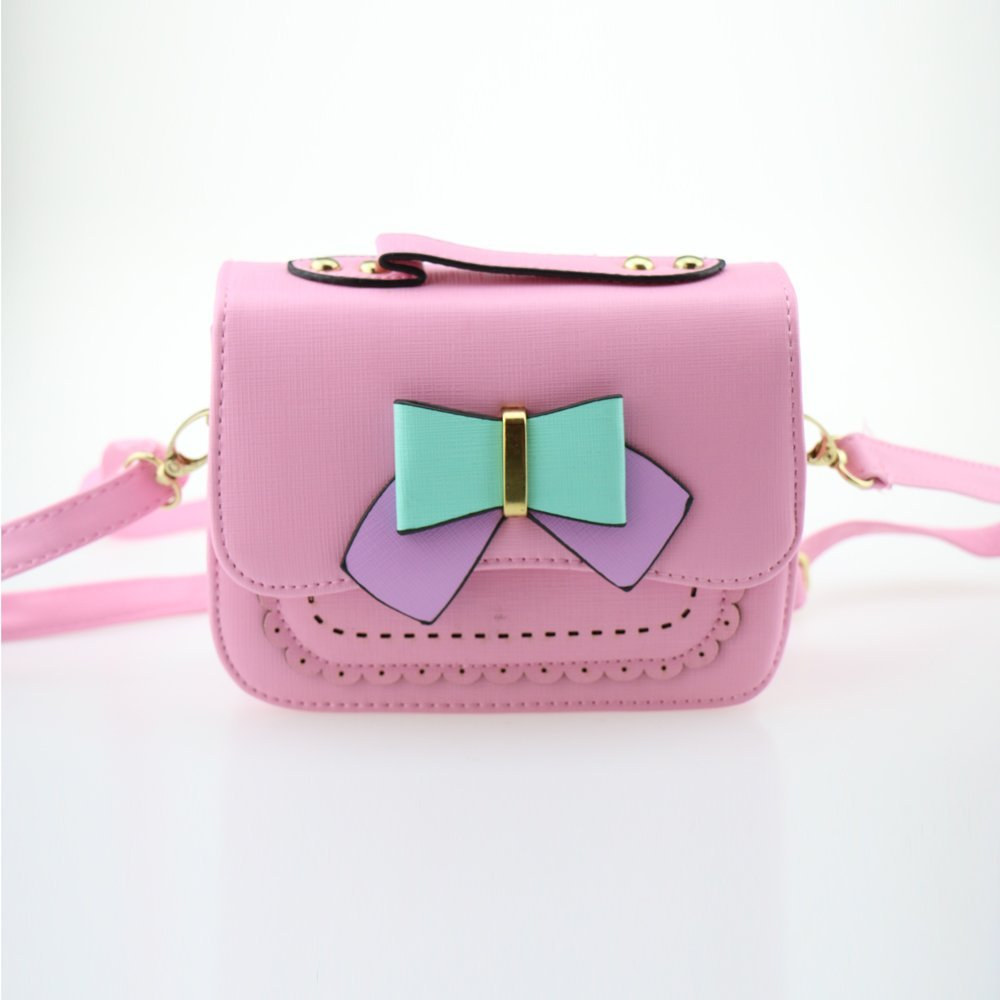 Dodocat Super Cute 3D Design Small Pink Bowknot Messenger Bag Kids Shoulder Bag Crossbody Handbag