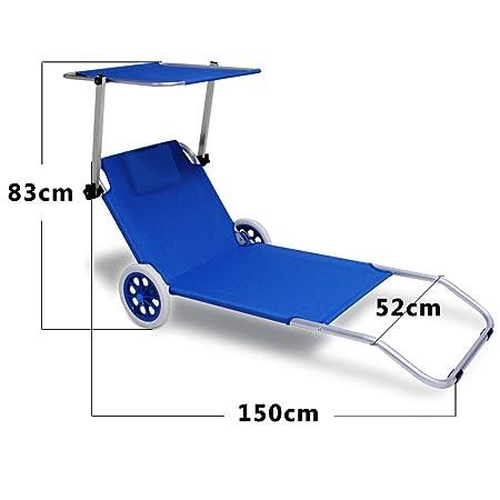 Crivit strandliege  Amazon.de: Strandliege Kreta klappbar Blau Alu- Gartenliege Strand ...
