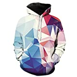 Eaglebeky Diamond Printed Hoodie Unisex Sweatshirts Boy Pullover Fashion Tracksuits Animal Cool Design Streetwear Clothes (M)