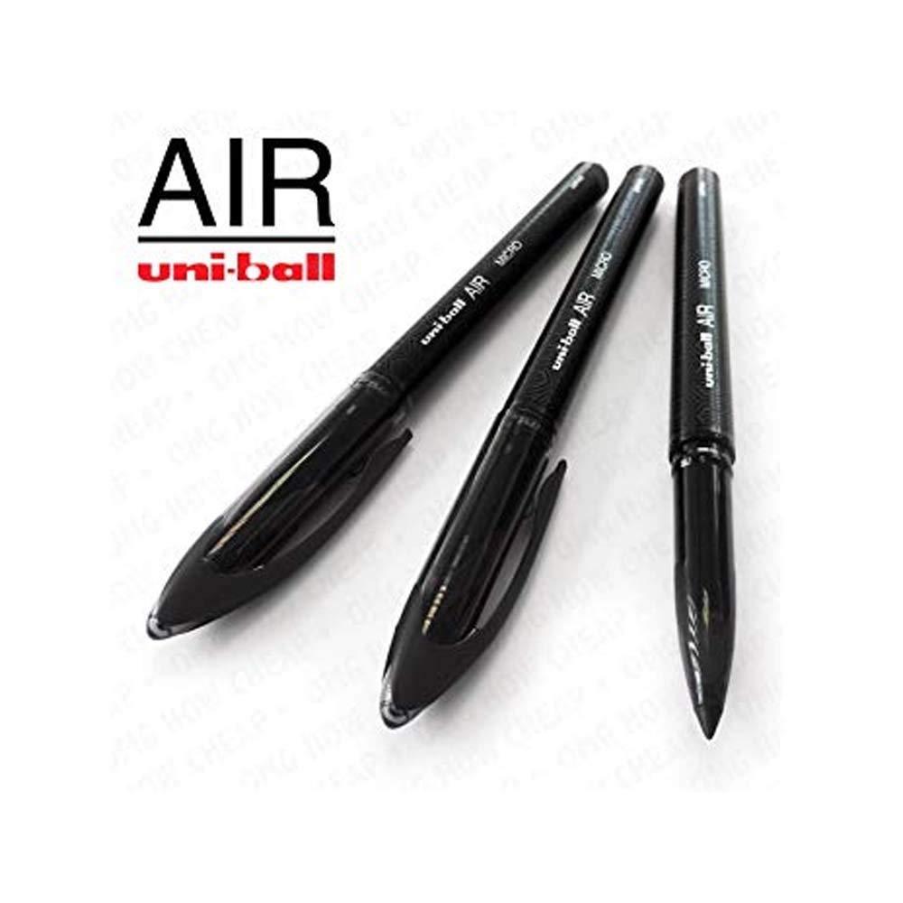 Uni-Ball Aria Micro 3 Confezioni 0.5mm Fine Penna a Sfera UBA-188-M Nero