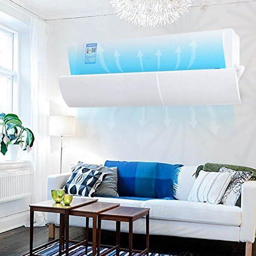 Baffle D/éflecteur dair Froid R/étractable Bouclier de Vent Climatiseur Vent Shield Pare-Brise Universelle Pare-Vent Mural Anti-Direct Soufflante lzndeal D/éflecteur pour climatiseur soufflant