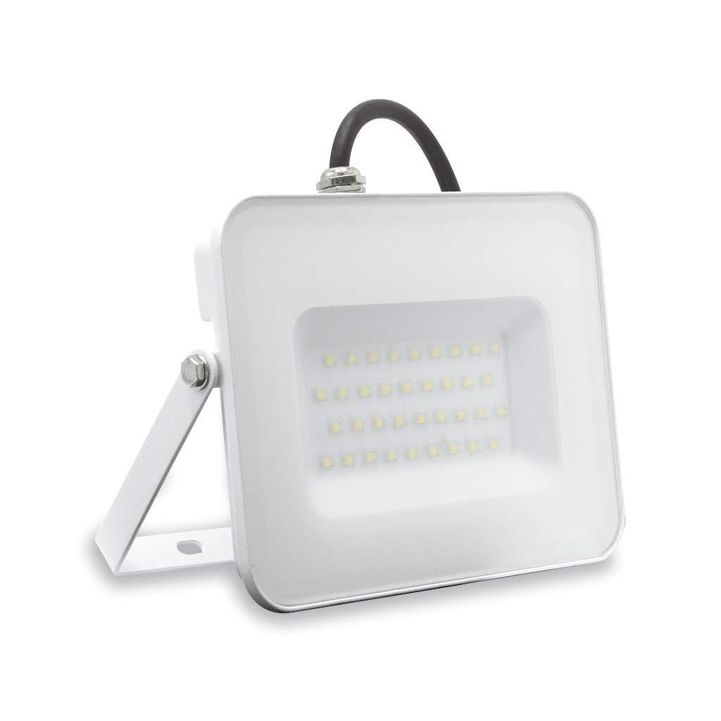 Lámpara FAFLAT30WBC Flat faro proyector LED 30 W 3000 K luz cálida ...