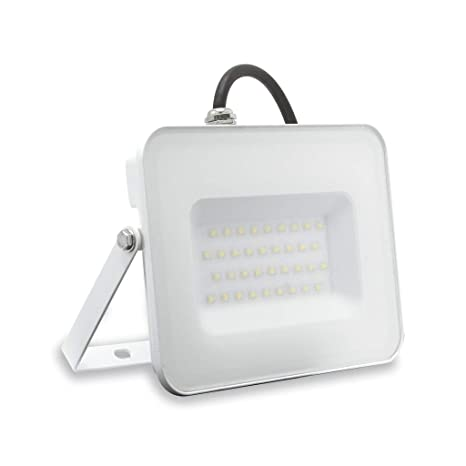 Lámpara FAFLAT30WBC Flat faro proyector LED 30 W 3000 K luz ...
