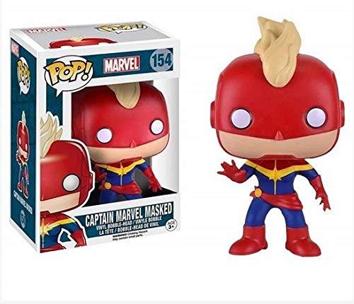 Funko Pop Marvel Captain Marvel Masked # 154/Vinilo de Bobble Head