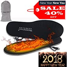 Heated Insoles, Sweet Mall Cut-to-Fit Multiple Sizes Unisex Flexible Rechargeable Heated Shoes Insoles Boot Mobile Foot Warmer for Hunting Fishing Hiking Camping