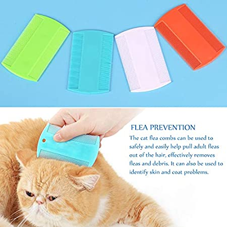 Cat Dog Pet Grooming Fine Tooth Hair Combs Petsvv 8 Packs Flea Lice Combs Double Sided Pet Flea Comb