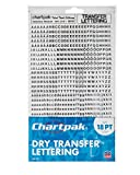 Chartpak Dry Transfer Letters and Numbers, 18PT