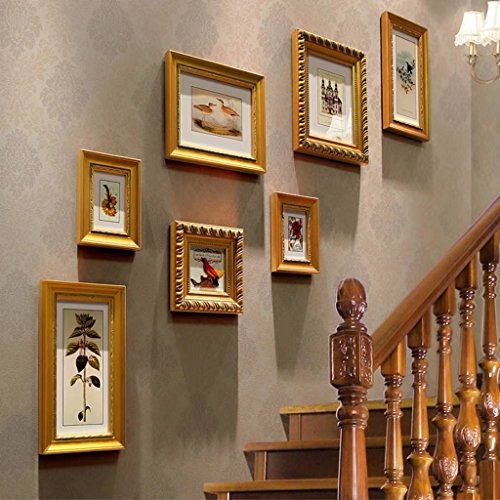 American Style Staircase Photo Wall Creative Picture Frame Multi-painting Combined Decoration Wall Photo Frame by YZXK