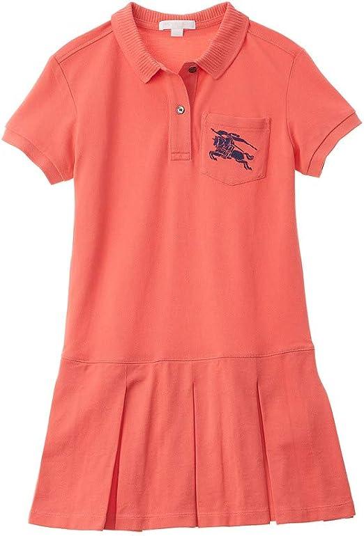 Burberry Ekd Logo - Vestido tipo polo para niña (talla 3Y): Amazon ...