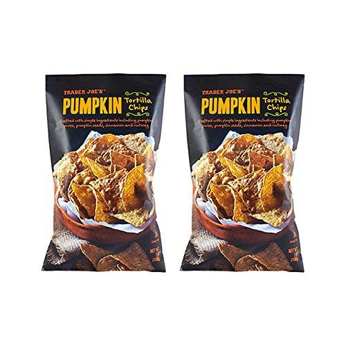 Trader Joe's Pumpkin Tortilla Chips, Gluten Free - 2 (7oz) Bags