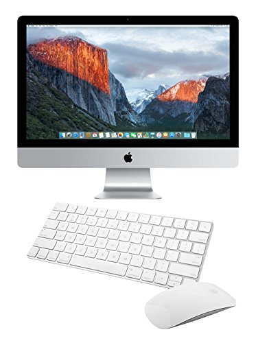 Apple iMac MK462LL/A 27-Inch Retina 5K Desktop (3.2 GHz Intel Core i5, 8GB DDR3, 1TB, Mac OS X), Silver ()(Renewed)