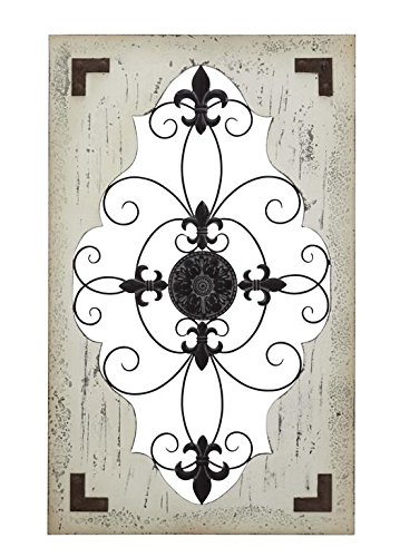 Deco 79 Cunningham Wood Metal Wall Décor - Iron Metal Urn