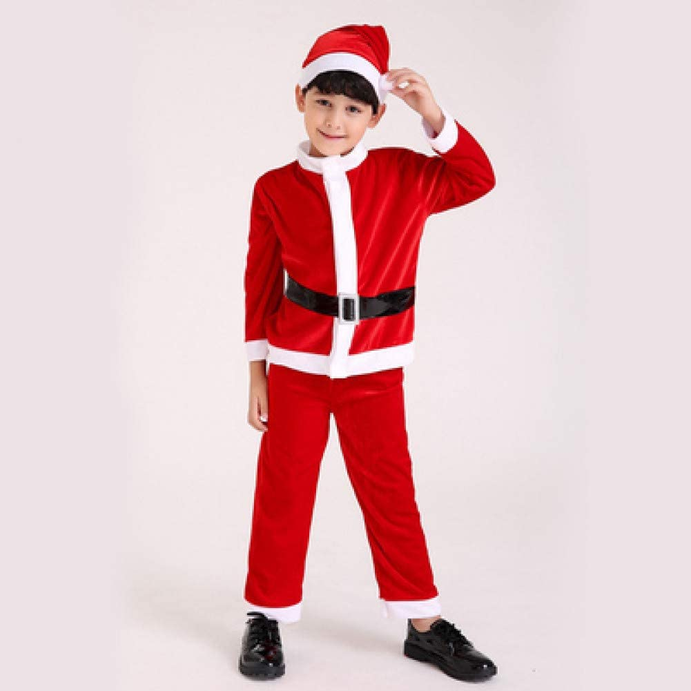 EDSDFF Christmas Boy Girl Gold Dress Disfraz De Cosplay Christmas ...