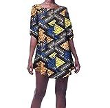 cheelot Women's Irregular Leisure Baggy Dashiki Africa Simple Top Blouse 3 3XL