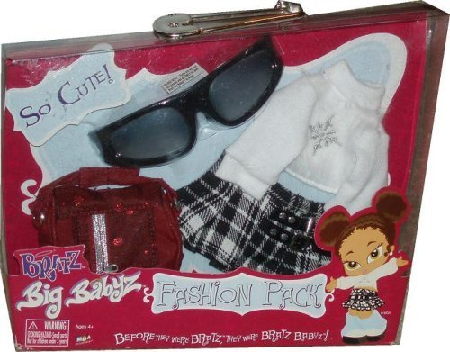 Bratz Big Babyz Fashion Pack - Wintertime Wonderland with Sunglasses, White Sweater Coat, Mini Skirt and Purse by - Sale Wonderland Sunglasses