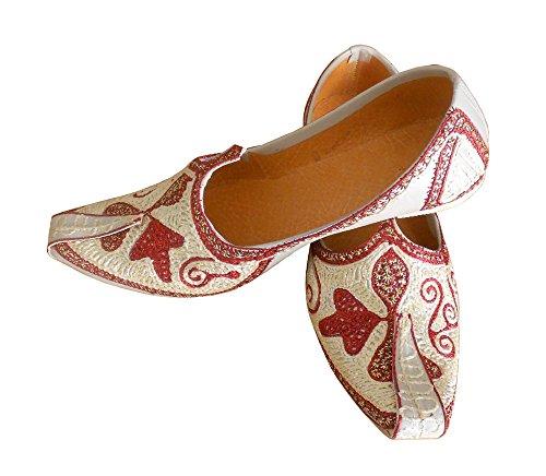 KALRA Creations Herren Traditionelle indische Faux Leder Casual Schuhe Merhfarbig