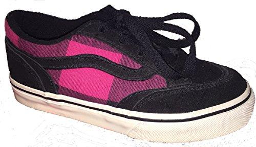 Vans - Zapatillas de skateboarding para niña Varios Colores (Plaid) Black/Pink 27.5