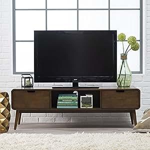 Amazoncom Belham Living Carter Mid Century Modern Tv Stand