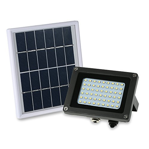 Walmeck Solar Panel Lights Floodlights 54 LED Powered Solar Lights IP65 Waterproof Outdoor Security Lights for Home, Garden, Lawn Review