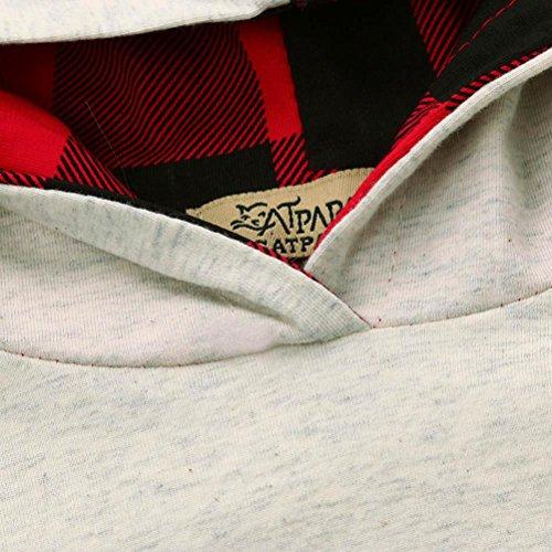 Babykleidung Longra Kleinkind Baby Junge Mädchen Kleidung Set Deer Hoodie Tops + Hosen Outfits Baby Kapuzenpullover Outfits Kleidung Set(0-18Monate) Gray