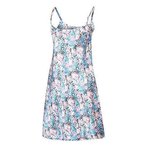 Richie House Women's Satin Print Slip Dress Sleepwear Pajama RHW2736-A-XL