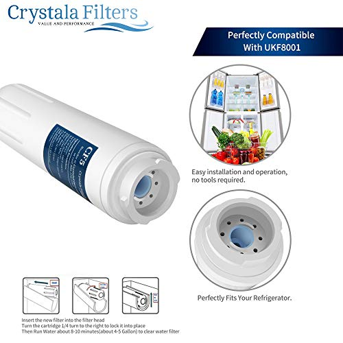 UKF8001 Compatible Filter Whirlpool 4, Jenn-Air, Puriclean 469006, by Crystala