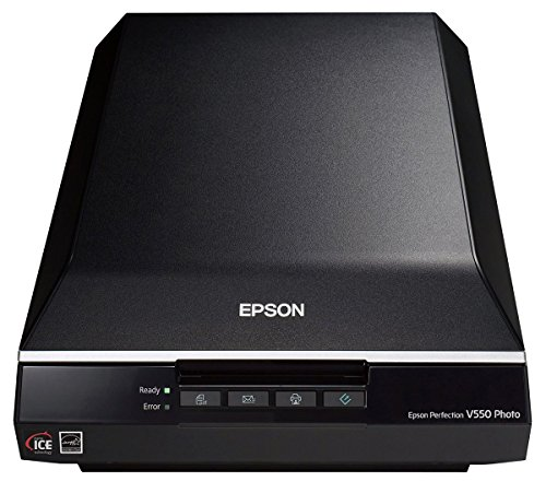 Epson Perfection V550 Color Photo, Image, Film, Negative & Document Scanner with 6400 dpi optical resolution (Renewed)