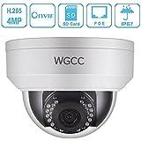 WGCC 4 Megapixels 2560x1440 POE IP Camera 3.6mm Lens IP67 Weatherproof Outdoor Security Camera IP67 Weatherproof Indoor/Outdoor Dome Outdoor & Indoor IR Night Vision
