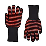 Veego Heat Resistant BBQ Oven Gloves with 932ºF None-Slip Silicone Gloves