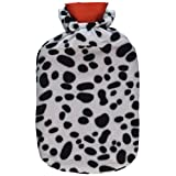 Classic Cross-Hatched Hot Water Bottle with Cover, Color may vary
