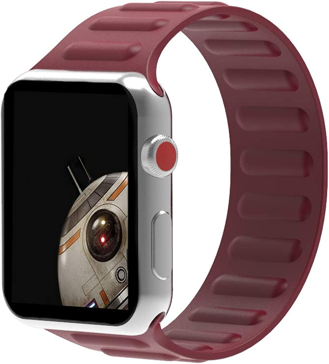 Solo Loop Stretchy Silicone Sports Replacement Strap Band Compatible With Apple Watch Series 6/5/4/3/2/1/SE Universal 38mm 40mm 42mm 44mm