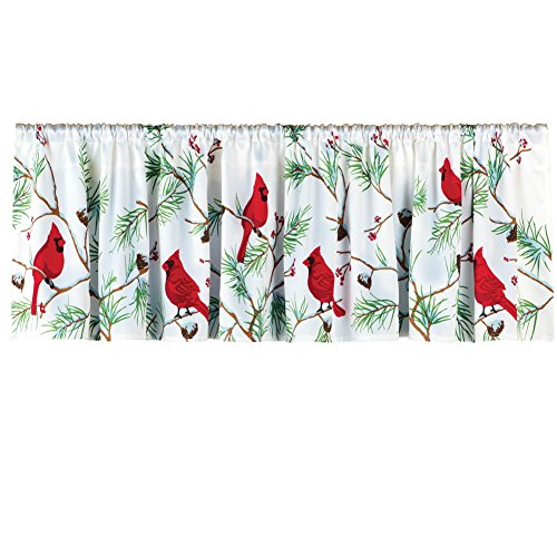 Collections Etc Holiday Cardinal Valance