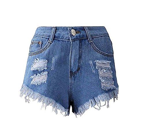 Denim Pantalon Femmes Sexy Shorts Chauds Sweat Shorts Haute Casual Mesdames Jeans Tassel Taille Irrgulire de qqSpRn