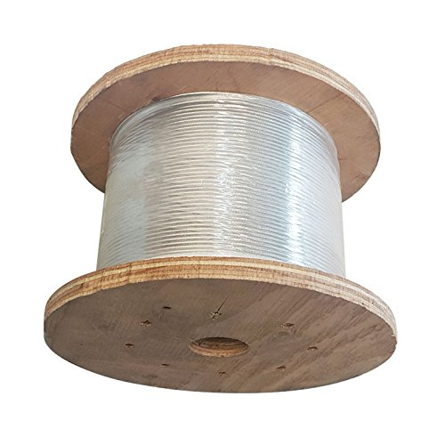 1000 Ft 1//8 1x19 Cable Rail Korean Made Wire Stainless Steel 316 Extra Corrosive Resistance