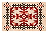 Lunarable Native American Pet Mat for Food and Water, Original National Heritage Maya Pyramids Local Region Esoteric Myth Motive, Rectangle Non-Slip Rubber Mat for Dogs and Cats, Multicolor