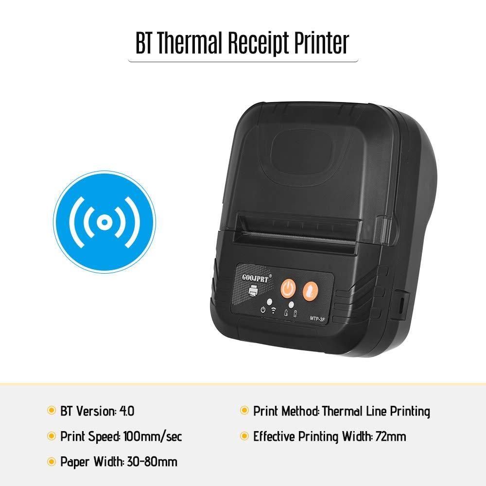 Amazon.com: Aibecy GOOJPRT Portable Mini Wireless 80mm BT ...