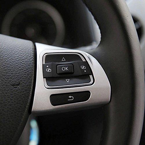 Emblem Trading Emblem Lenkrad Abdeckung Multifunktionstasten Rahmen ABS Chrom Matt Autozubeh/ör