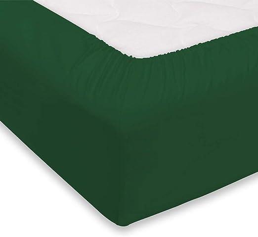 Giosal - Sábana Bajera Ajustable de algodón para Cama de ...