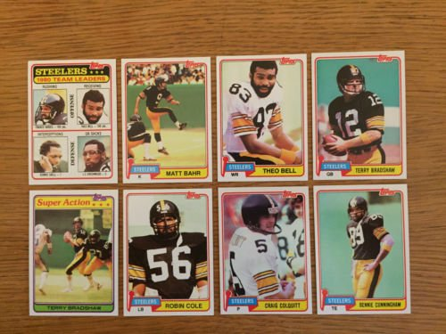Pittsburgh Steelers - 1981 Topps Football Team Set - Super Bowl IX, X, XIII, XIV Champions / Team of 1970s - Steelers Pittsburgh 1970s