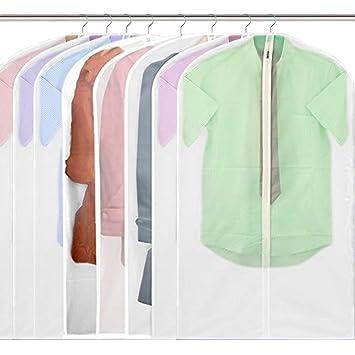 344e699b83f23 Bidear 服カバー スーツカバー 衣類カバー クリア 洋服収納袋 防塵 防虫 消臭 防湿