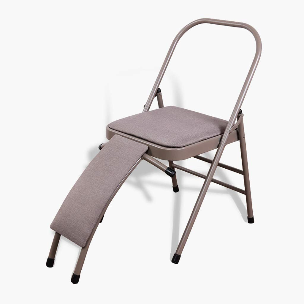 BXUFEI Foldable Yoga Chair,Chair Auxiliary Tools Backless Standard Props Practice Body Activities Balanced Headstand Bench for Family, Gym