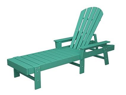 Amazon.com: Chaise Lounge de madera sintética: Jardín y ...