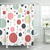 Pink and Purple Polka Dot Shower Curtain Emvency Red Random Abstract Geometric Dots Pattern Colorful Circle Nursery Polka Children Waterproof Shower Curtain Curtains Extra Long 72