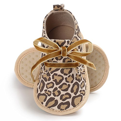 GEMVIE Zapatos Patucos De Bebé Unisex Primeros Pasos Antideslizante Suela Suave Marrón Leopardo Longuitud de pie 13cm CZQEn7MMY