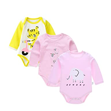 22d7f2fbf Amazon.com  Baby Boys Clothes 3pcs lot Cotton Long Sleeve Animal ...