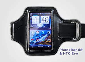 PhoneBand - XL Armband / Sportband For Apple iPhone 5 / Samsung S4 & Other Large SmartPhones - Hit The Road or The Gym With Our Latest Extra Large Black Sports Armband Designed To Fit Most Large SmartPhones - Works With All iPhones, Droid X2, Nexus 4, HTC One, Motorola RAZR , Nokia Lumia, BlackBerry Q10, Sony Xperia, Protect Your SmartPhone - Lifetime Guarantee