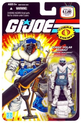 (G.I. JOE Cobra Snow Serpent Polar Assualt Soldier Wave 9 3 3/4