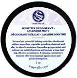 Soapwalla - Organic/Vegan Sensitive Skin Deodorant Cream (Lavender Mint, Baking Soda Free)
