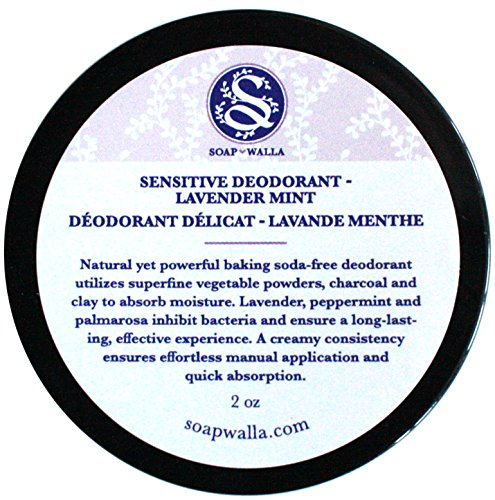 Price comparison product image Soapwalla - Organic / Vegan Sensitive Skin Deodorant Cream (Lavender Mint, Baking Soda Free)